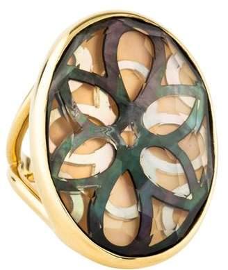 Ippolita 18K Mother of Pearl & Quartz Sabbia Oval Cutout Ring