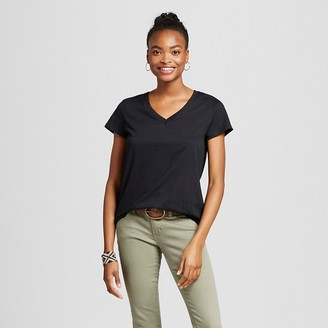 Mossimo Supply Co. Women's Short Sleeve Relaxed V-Neck T-Shirt - Mossimo Supply Co. $8 thestylecure.com