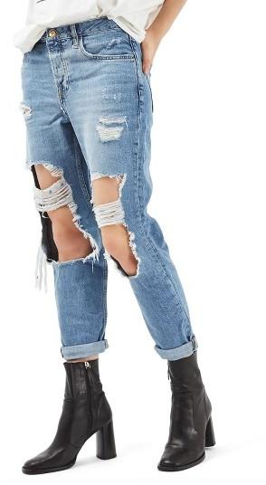 TopshopWomen's Topshop Hayden Ripped Boyfriend Jeans