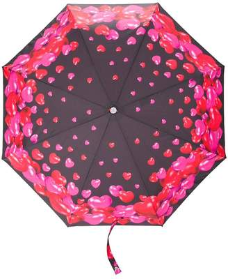 Moschino heart print umbrella
