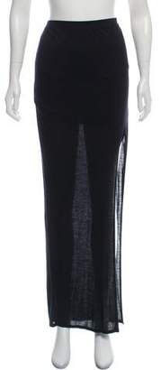 Helmut Lang Jersey Maxi Skirt