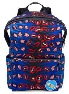 Fendi Jaguar-Print Backpack