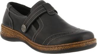 Spring Step Leather Slip-On Shoes - Smolqua