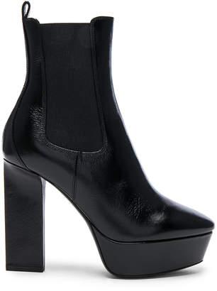 Saint Laurent Leather Vika Platform Boots