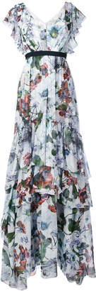 Erdem long tiered ruffle dress