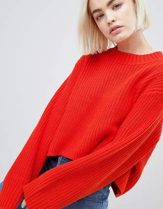 Weekday Thick Rib Cropped Jumper
