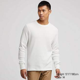 Uniqlo Men's Waffle Crewneck Long-sleeve T-Shirt