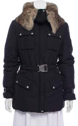 Gianfranco Ferre Fur Trim Puffer Jacket