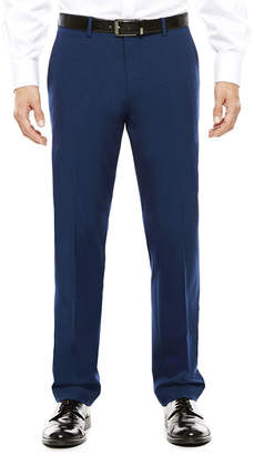 Jf J.Ferrar Men's JF Blue Stretch Flat-Front Super Slim-Fit Suit Pants