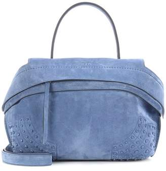 Tod's Wave Small suede tote