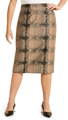 Marina Rinaldi Plus Size Casanova Snake-Print Pencil Skirt