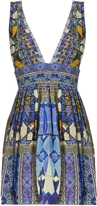 CAMILLA Seeing Stars-print silk crepe de Chine dress $500 thestylecure.com
