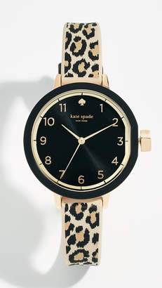 Kate Spade Park Row Leopard Watch, 33mm