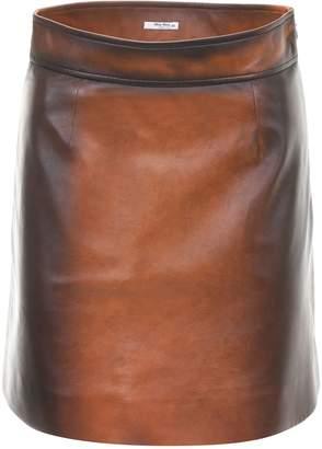Miu Miu Vintage Nappa Mini Skirt