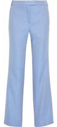 Rosetta Getty Cotton-Jacquard Straight-Leg Pants