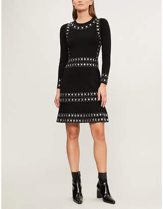 MICHAEL Michael Kors Studded stretch-knit mini dress