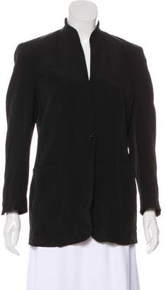 Giorgio Armani Notch-Lapel Structured Blazer