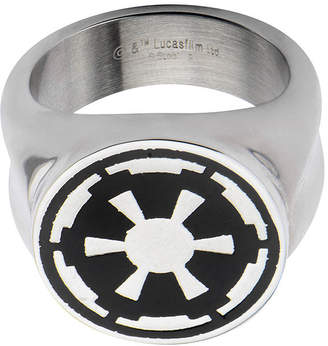 Star Wars FINE JEWELRY Imperial Symbol Mens Stainless Steel Ring