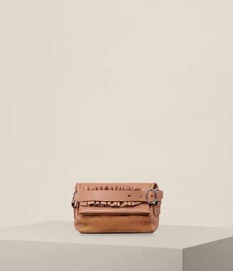 AllSaints Maya Leather Soft Clutch