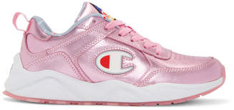 Champion Reverse Weave Pink 93Eighteen Metallic Sneakers