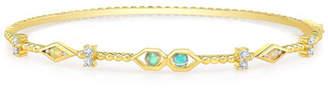 Ron Hami Bubble 14k Gold Diamond & Opal Bangle