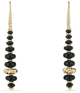 David Yurman Rio Rondelle Drop Earrings in 18K Gold