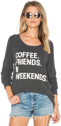 Chaser Coffee Friends & Weekends Pullover $79 thestylecure.com