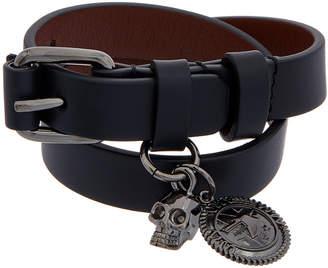 Alexander McQueen Skull Wide Double Wrap Bracelet