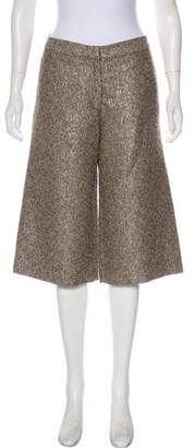 Lela Rose Wool & Silk Mid-Rise Pants