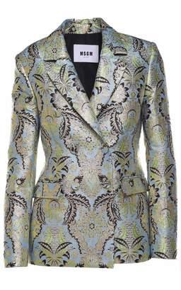 MSGM Metallic Floral-jaquard Jacket