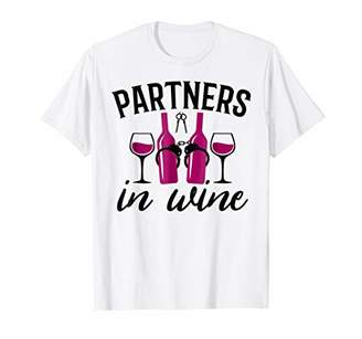 Funny Wine Drinking T Shirt for Women Partners in Wine
