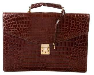 Brooks Brothers Alligator Briefcase