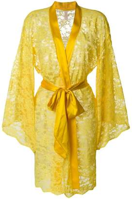 Dolci Follie lace embroidered dressing gown