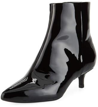 Taryn Rose Nora Patent Kitten-Heel Booties
