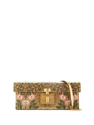 Oscar de la Renta Printed Metallic Leather Alibi Clutch