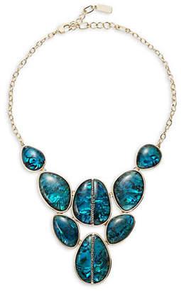 Kenneth Cole New York Abalone Goldtone Bib Necklace