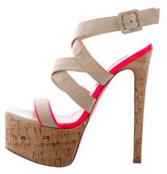 Ruthie Davis Crossover Platform Sandals