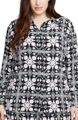 Rachel Roy RACHEL  Tile Print Shirt