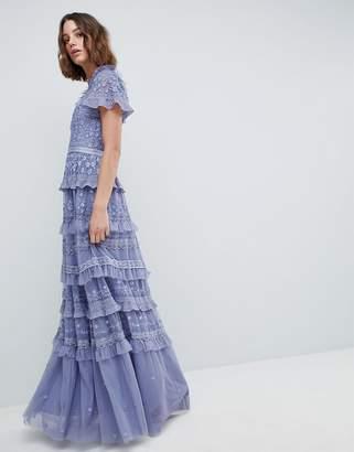Needle & Thread High Neck Layered Maxi Dress