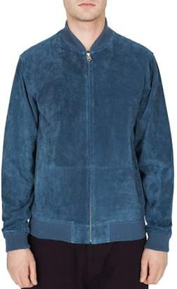 Obey Clifton Faux-Suede Bomber Jacket