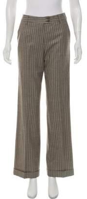 Etro Wool Mid-Rise Pants Grey Wool Mid-Rise Pants