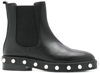 RED Valentino pearl-embellished ankle boots