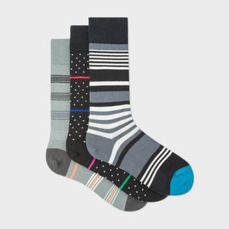 Men's Stripe And Fleur-De-Lis Socks Three Pack $75 thestylecure.com