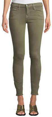 Etienne Marcel Mid-Rise Skinny Cargo Jeans w/ Zipper Cuffs