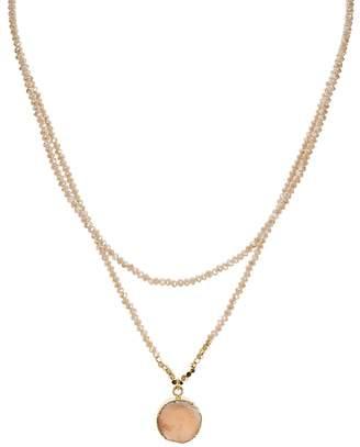 "Aqua Beaded Layered Necklace, 15-18"" - 100% Exclusive"