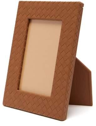 Bottega Veneta Intrecciato Leather Photo Frame - Tan