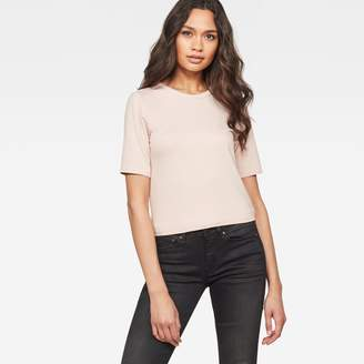 G Star Silber Cropped T-Shirt