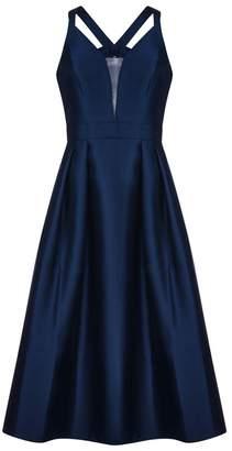 Adrianna Papell Mikado Tie Back Dress