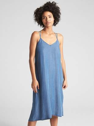 Gap Strappy Cami Midi Dress in TENCEL