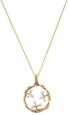 Burlington London Road 9ct Yellow Gold Willow Pearl Pendant Drop Necklace